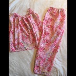 Oscar de la Renta floral pajamas